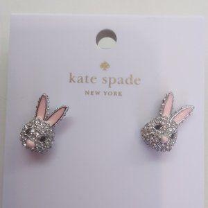 "Kate Spade New Rabbit ""Make Magic"" Earrings"